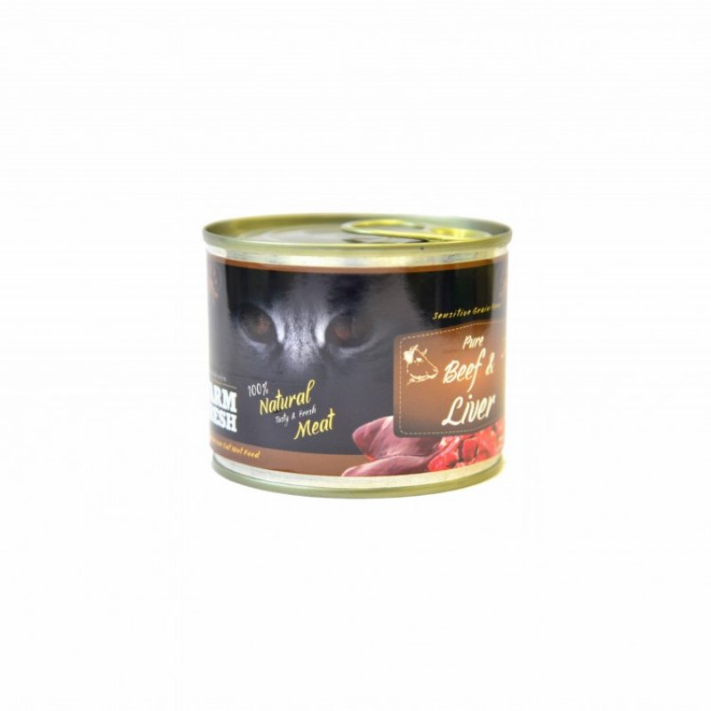 FARM FRESH CAT PURE BEEF & LIVER CANNED