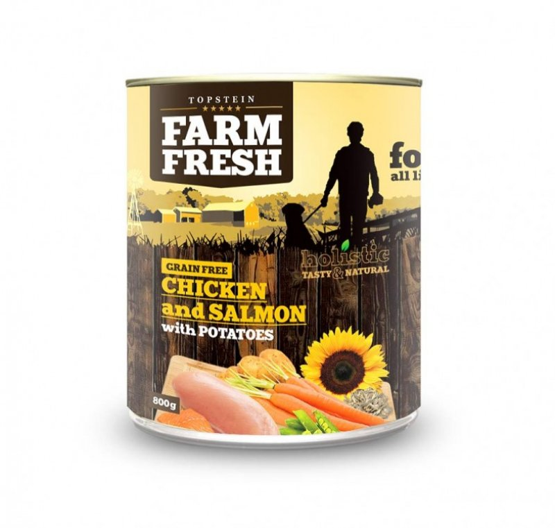 Farm Fresh - CHICKEN and SALMON with POTATOES